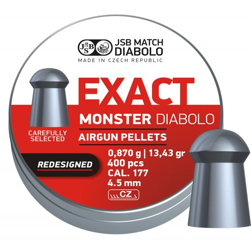 JSB – Exact Monster 4,52mm 8,87g/13,43gr Redesigned